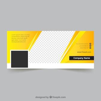 Желтая обложка для facebook
