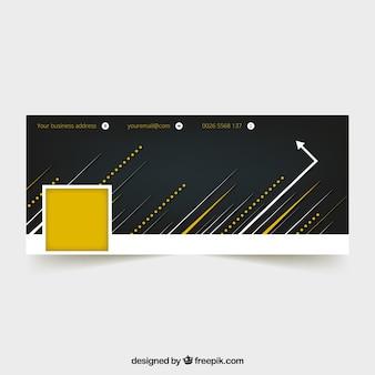 ラインと矢印によるfacebookのカバー