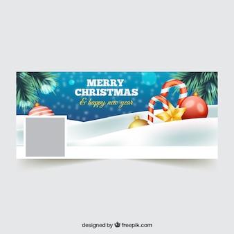 Веселая рождественская обложка для facebook