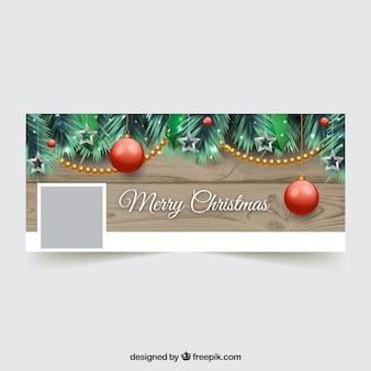 Красивая веселая рождественская обложка для facebook