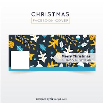 Facebook обложка веселых рождеств и счастливого нового года