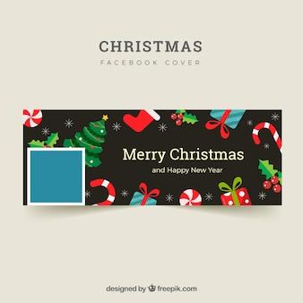 Черная крышка facebook для рождества