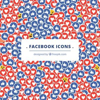 フラットデザインのfacebookアイコンの背景