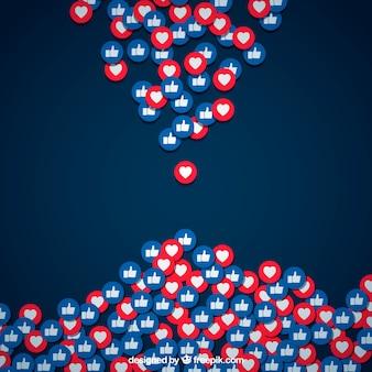 Facebook фон с сердечками и любит