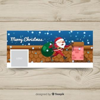 Рождественская обложка для facebook