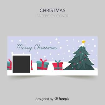 Рождественская елка рождественская обложка facebook
