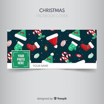 フラットアクセサリークリスマスのfacebookカバー