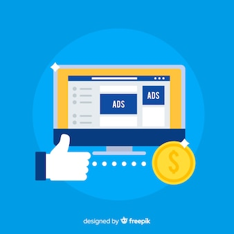 Плоский фон для рекламы facebook