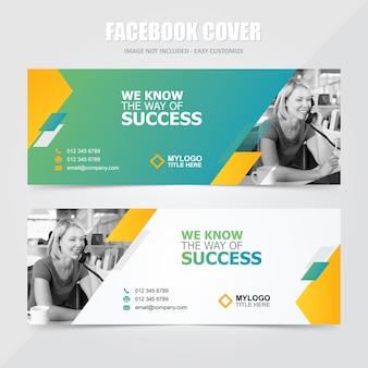 Корпоративные социальные медиа facebook баннер векторный шаблон