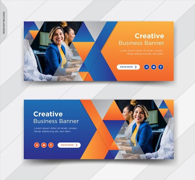 Бизнес facebook обложка социальной рекламы пост баннер дизайн