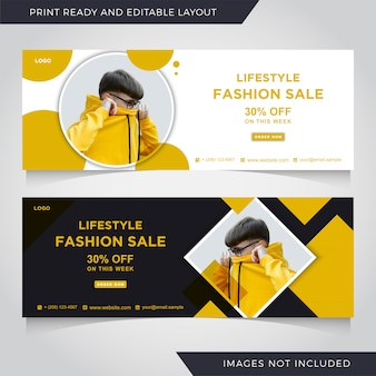 Мода продажа facebook шаблон обложки баннер.