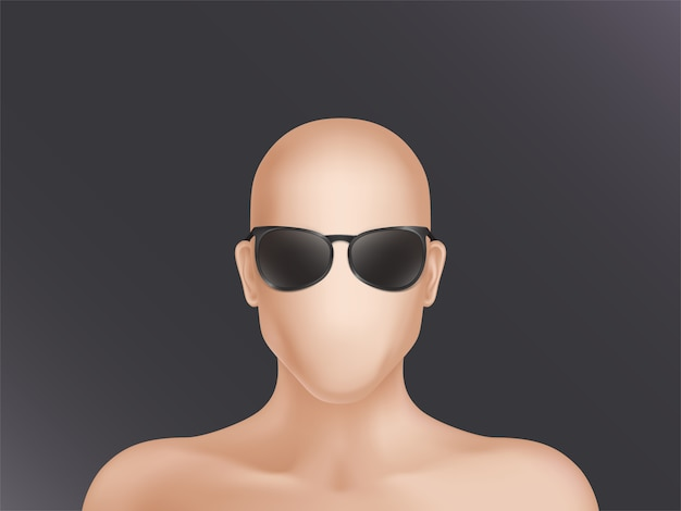Faceless human model, blank dummy, part of male or female body isolated on background.