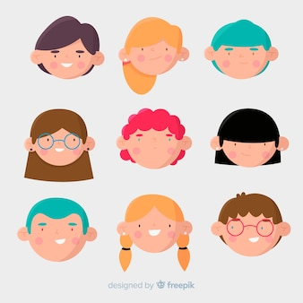 Faces childrens day characters pack