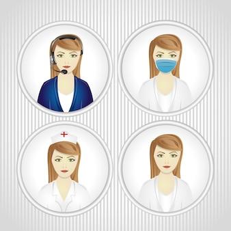 Граненый набор женщин в родах