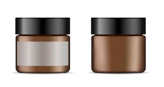 Баночка для крема для лица. векторная иллюстрация косметики