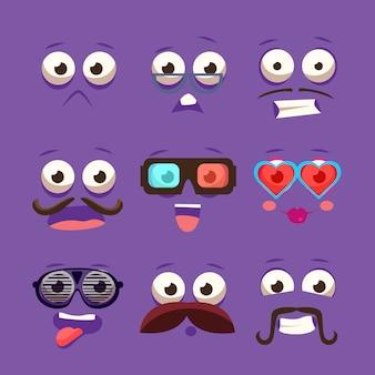 Facial design elements set