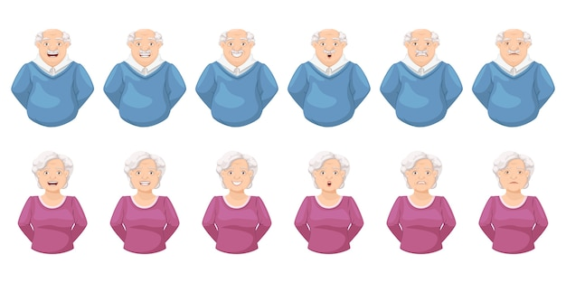 Facial expression in the elderly people