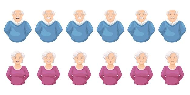高齢者の表情