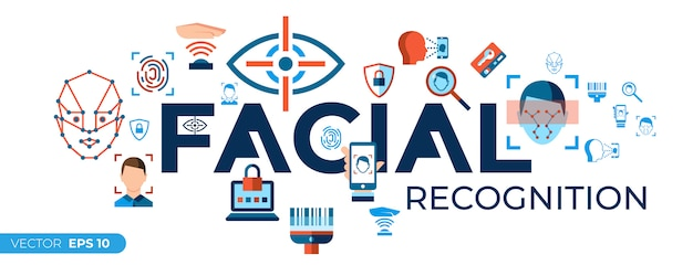Facial recognition icons collection