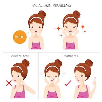 顔の皮膚の問題と治療