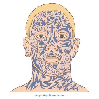 얼굴 문신