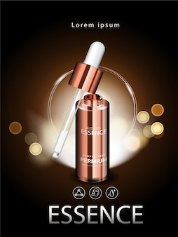 Facial treatment essence skin care cosmetic
