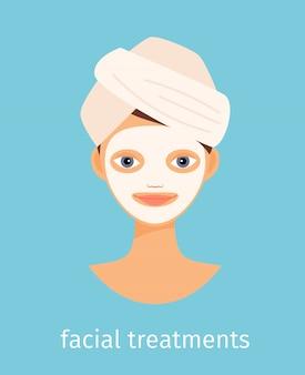Facial treatments illustration