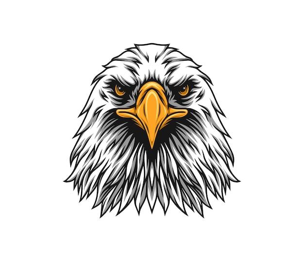 Facing eagle illustration
