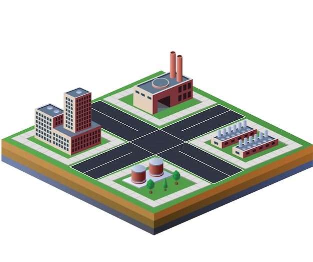 Factories building isometric