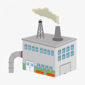 Factories and industries graphic