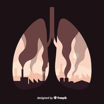 Factories and smokes inside lungs