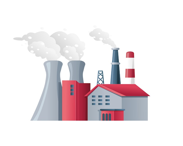Factory air pollution polluted environment