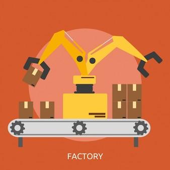 Factory background design