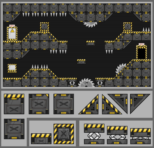 Factory game tileset