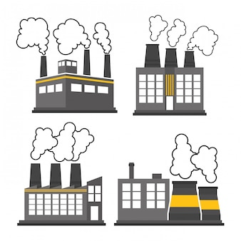 공장 산업 및 비즈니스 디자인