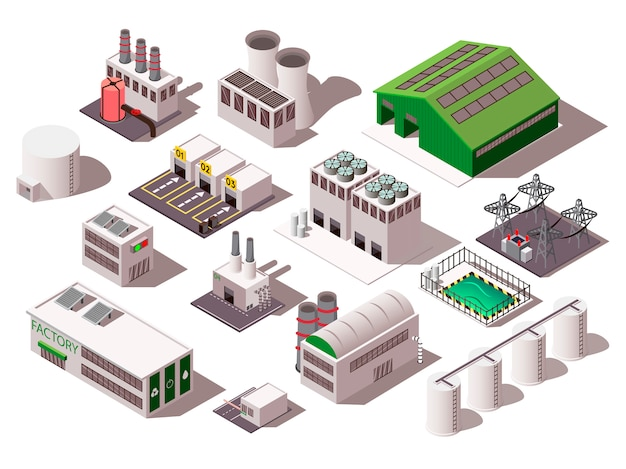 Factory isometric set