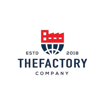 Factory logo design vector.