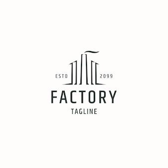 工場ロゴアイコンデザインテンプレートフラットベクトルイラスト