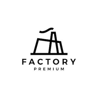 工場のロゴテンプレート