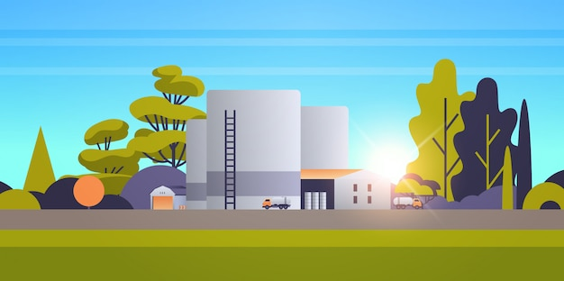 Factory manufacturing building industrial zone plant power station