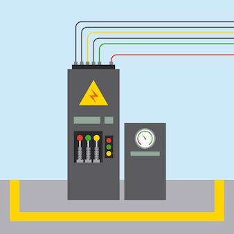 Factory monitoring control machine vehicle