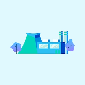 Factory power generator in blue