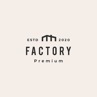 Factory  vintage logo  icon illustration