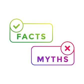 Facts and myths, vector art