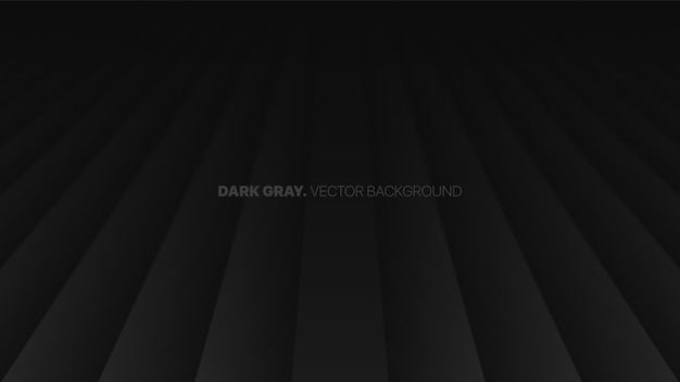 Fading perspective smooth straight lines 3d blurred effect dark gray abstract background
