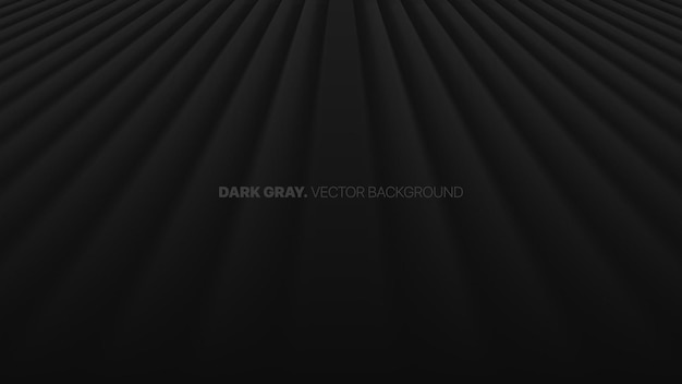 Fading perspective straight lines in a row 3d blurred effect dark gray abstract background