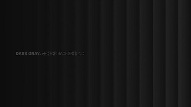 行のフェード直線3dぼやけた効果ダークグレー抽象的な背景