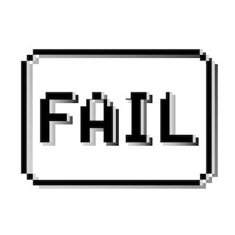 Fail pixel stamp