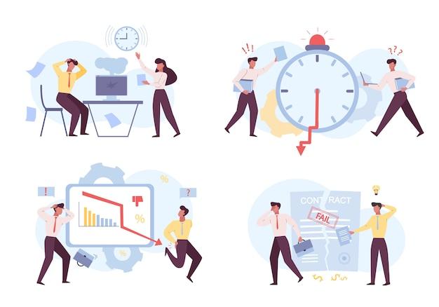 Failures at job flat illustrations set