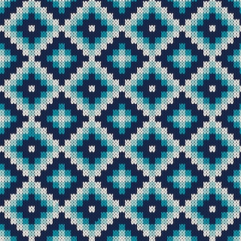 Fair isle style knitted sweater design. seamless knitting pattern. knitted texture